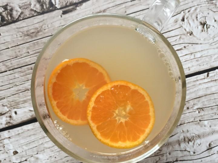 Gemberthee met mandarijn
