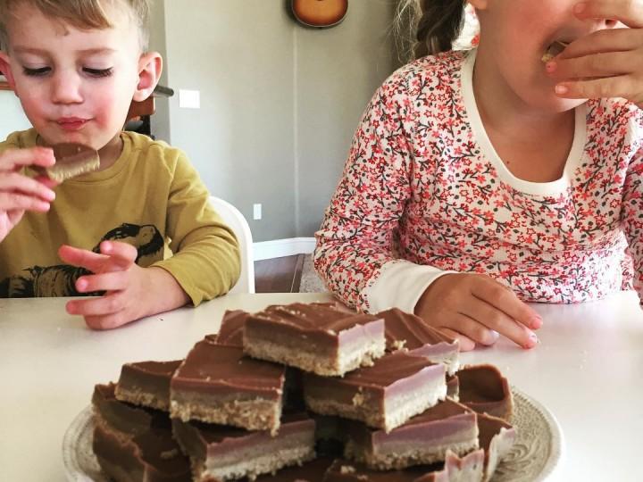 Chocolade-pindakaas squares