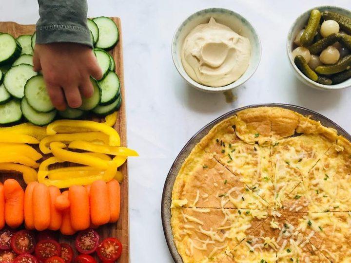 Snel diner: omelet met rauwkost