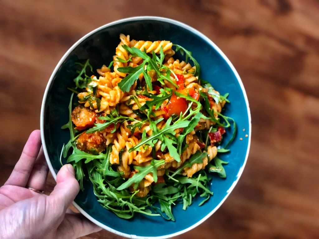 Simpele pasta maaltijd met lekker veel groenten (leuk met kinderen)