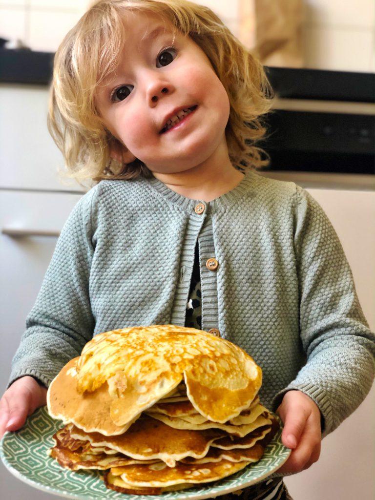 Handige kleine pannenkoekjes (om te oefenen voor kinderen)
